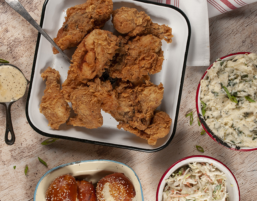 picture of fried chicken family pack